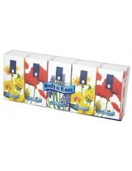 Soft & easy chusteczki higieniczne, 3 warstwy, kwiaty, 10 sztuk