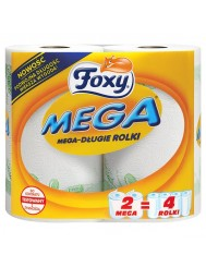 Foxy mega ręcznik papierowy – 2 mega-długie rolki, 2 warstwy, 100% celuloza