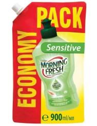 Morning Fresh Sensitive Aloe Vera Skoncentrowany Płyn do Mycia Naczyń 900 ml – ekstraktem z aloesu