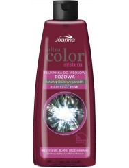 Joanna Ultra Color Różowa Płukana do Włosów Siwych, Blond, Rozjaśnianych 150ml – nadaje różowy odcień