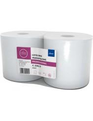 Ellis Professional Ręcznik Papierowy Czyściwo Przemysłowe Białe 2 Warstwy 100% Celuloza 2 szt – wysokość 26 cm