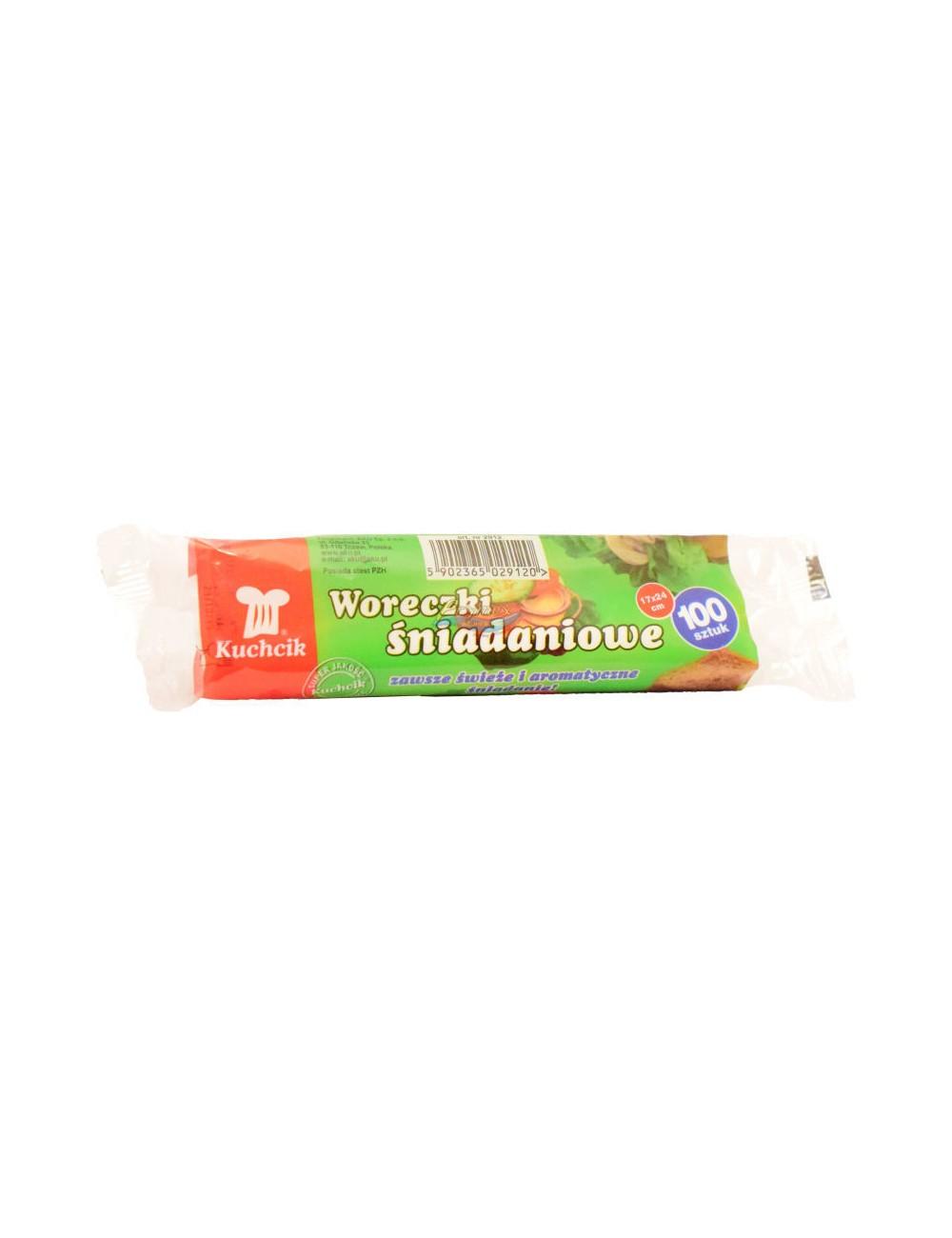 Kuchcik Woreczki Śniadaniowe 17x24cm 100 szt – do pakowania kanapek