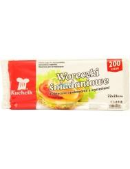 Kuchcik Woreczki Śniadaniowe 22x33cm 200 szt – do pakowania kanapek