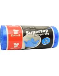 Kuchcik Worki Na Śmieci Supertop 35 L 30 szt – niebieskie
