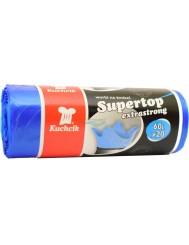 Kuchcik Worki Na Śmieci Supertop 60 L 20 szt – niebieskie
