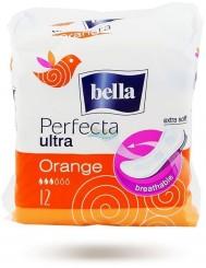 Bella perfecta ultra orange 12 szt – super-cienkie, oddychające podpaski higieniczne