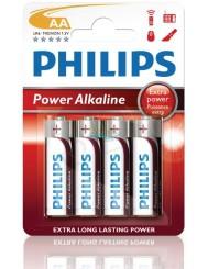 Philips Power Alkaline LR6 1,5V Baterie Alkaliczne AA 4 szt
