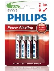 Philips Power Alkaline LR03 1,5V Baterie Alkaliczne AAA 4 szt