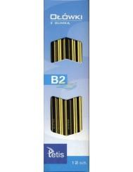 Ołówki z Gumką Tetis KV050 B2 12 szt