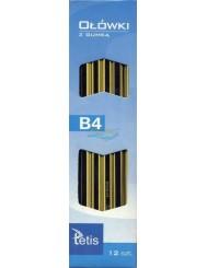 Ołówki z Gumką Tetis KV050 B4 12 szt