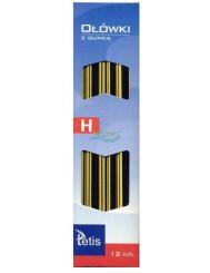 Ołówki z Gumką Tetis KV050 H 12 szt