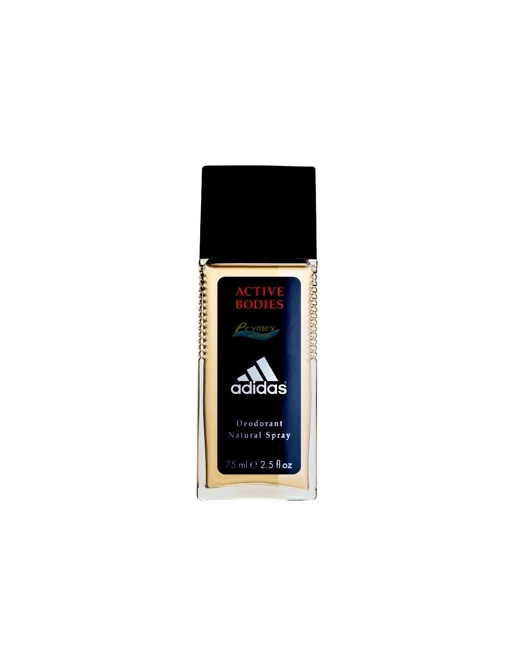 Adidas Active Bodies Męski Dezodorant w Naturalnym Spray'u 75 ml