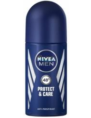 Nivea Men Protect&Care Męski Antyperspirant w Kulce 50 ml – nie podrażnia skóry