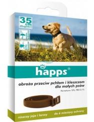 Happs Obroża Przeciw Pchłom i Kleszczom dla Małych Psów 1 szt – 35 cm długości, działa do 180 dni