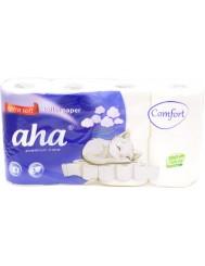 Aha Comfort Extra Soft Papier Toaletowy Biały 3-Warstwowy 8 szt