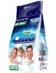 Cluo Active White Proszek do Prania Tkanin Białych 3 kg (40 prań)