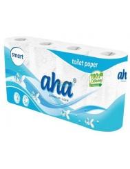 Aha Smart Premium Care Papier Toaletowy Biały 2 Warstwowy 8 rolek – 100 % celuloza