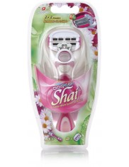 Dorco Shai 3+3 Ostrza Maszynka do Golenia dla Kobiet 1 szt (+2 szt wymiennych ostrzy)