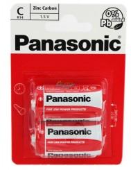 Panasonic Zinc Carbon C R14 Baterie Cynkowo-Węglowe 1,5 V 2 szt