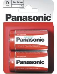 Panasonic Zinc Carbon D R20 Baterie Cynkowo-Węglowe 1,5 V 2 szt