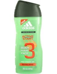 Adidas Active Start Revitalising Męski Szampon i Żel pod Prysznic do Twarzy, Ciała i Włosów 3w1 250 ml