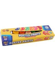 Farby Plakatowe Astra 12 kolorów (20 ml) + 1 kolor gratis