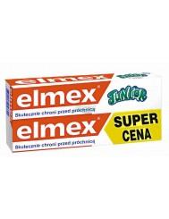 Elmex Junior Pasta do Zębów dla Dzieci z Aminofluorkiem 6-12 lat 2x 75 ml
