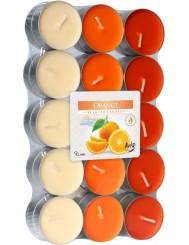 Bispol Orange Podgrzewacze Świece Zapachowe Pomarańcza ~4h 30 szt