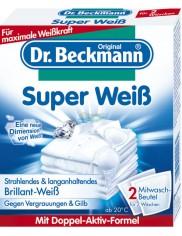Dr Beckmann Super WeiB Niemieckie Saszetki do Prania Super Biel 2x40 g