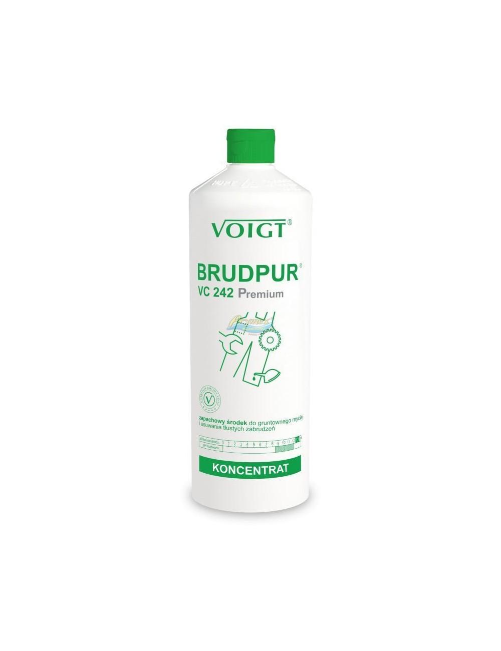 Voigt Brudpur Premium VC-242 Zapachowy Koncentrat do Gruntownego Mycia i Usuwania Tłustych Zabrudzeń 1 L