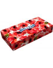 Soft & easy płaskie chusteczki kosmetyczne, 2-warstwowe, 100% celuloza, kwiaty, 80 sztuk