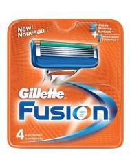 Gillette Fusion Wkład Wymienny do Maszynki do Golenia dla Mężczyzn 4 szt
