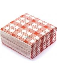 Grosik Serwetki Papierowe Jednowarstwowe 33x33 cm Kolor Czerwony 100 szt