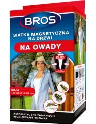 Bros Siatka Magnetyczna na Drzwi na Owady Automatyczne Zamknięcie Biała (140-160 x 210-220 cm)