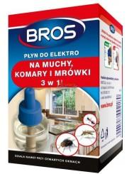 Bros Płyn do Elektrofumigatora 3-w-1 Na Muchy Komary i Mrówki 300 ml