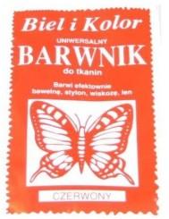 Barwnik Do Tkanin Czerwony