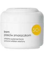 Ziaja 50+ półtłusty krem przeciw zmarszczkom – ochrona włókien elastyny 50ml