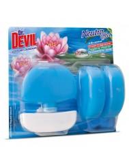 Dr Devil Koszyk + 2x Zapas Lotus Lagoon 3w1 3x55ml– zapachowy odświeżacz w płynie do WC
