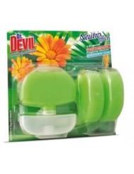 Dr Devil Wc Koszyk 3w1+2x Zapas Spring Jungle 3x55g – czyści i zapobiega osadzeniu się kamienia