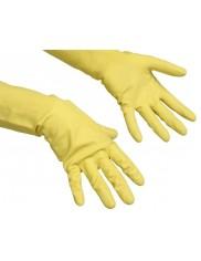 Vileda Contract rękawice gospodarcze (M średnie) – z naturalnego lateksu, z wyściółką bawełnianą