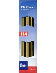 Ołówki z Gumką Tetis H4 KV050 12szt