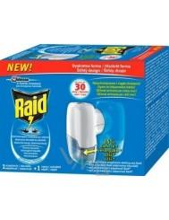 Raid Przeciw Komarom Urządzenie + Zapas (30 nocy) – elektrofumigator owadobójczy z płynem