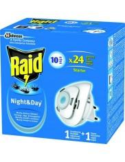 Raid Night & Day Urządzenie + Zapas – elektrofumigator na muchy, komary i mrówki