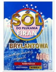 Sól Brylantowa Do Płukania Firan 400g (8 prań) – nabłyszcza, usztywnia, wybiela