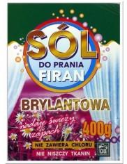 Sól Brylantowa Do Prania Firan i Zasłon 400g (8 prań) – nadaje świeży zapach, bez chloru