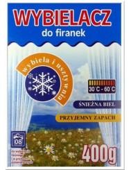 Wybielacz Do Firanek Śnieżna Biel 400g (8 prań) – ułatwia prasowanie, wybiela, usztywnia