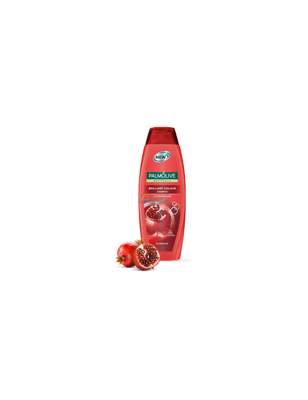 Palmolive Brilliant Color 350ml – szampon do włosów farbowanych, z ekstraktem z granatu, perły i migdału