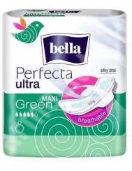 Bella Perfecta Ultra Maxi Green 8 sztuk – wydłużone, supercienkie podpaski z osłonkami