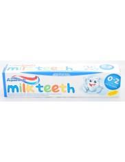Aquafresh Milk Teeth 50ml – pieniąca się pasta do zębów dla dzieci w wieku 0-2 lat
