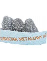 Druciak metalowy 3szt